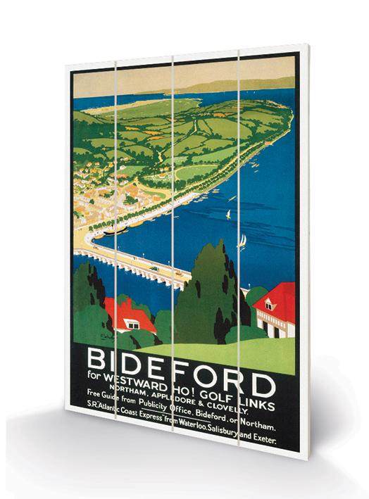 Bideford Wood Print