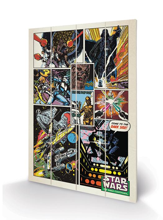 Star Wars (Retro Comic) Wood Print