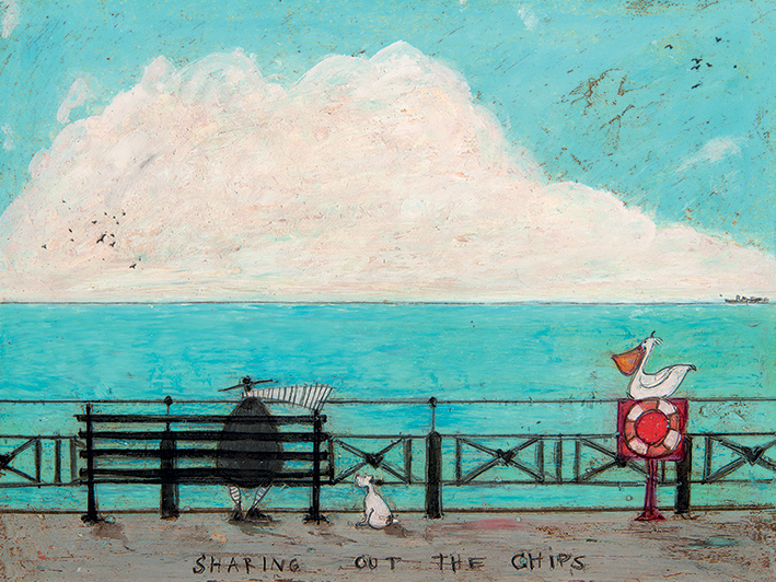 Sam Toft (Sharing out the Chips) Canvas Print