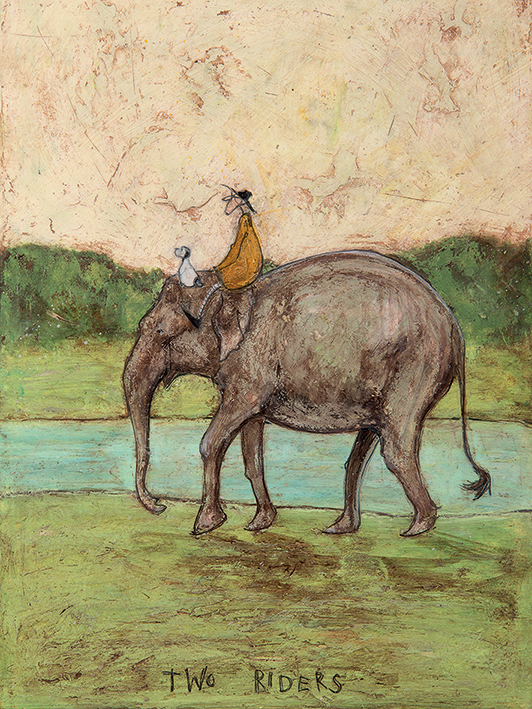 Sam Toft (Two Riders) Canvas Prints