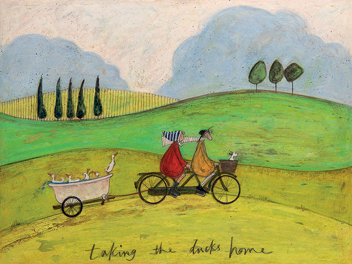 Sam Toft (Taking the Ducks Home) Canvas Prints