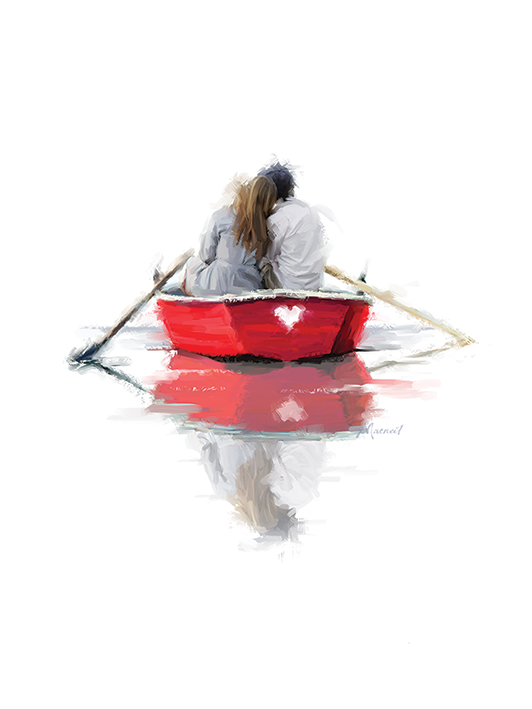 Richard Macneil (Couple in a Boat) Canvas Prints