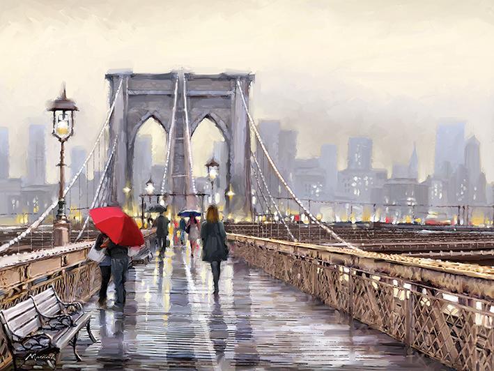 Richard Macneil (Brooklyn Bridge) Canvas Prints