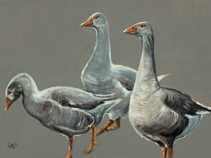 Louise Brown (Having a Gander) Canvas Prints