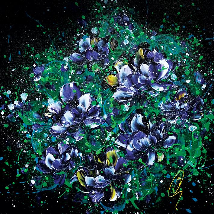 Clare Sykes (Purple Hearts) Canvas Prints