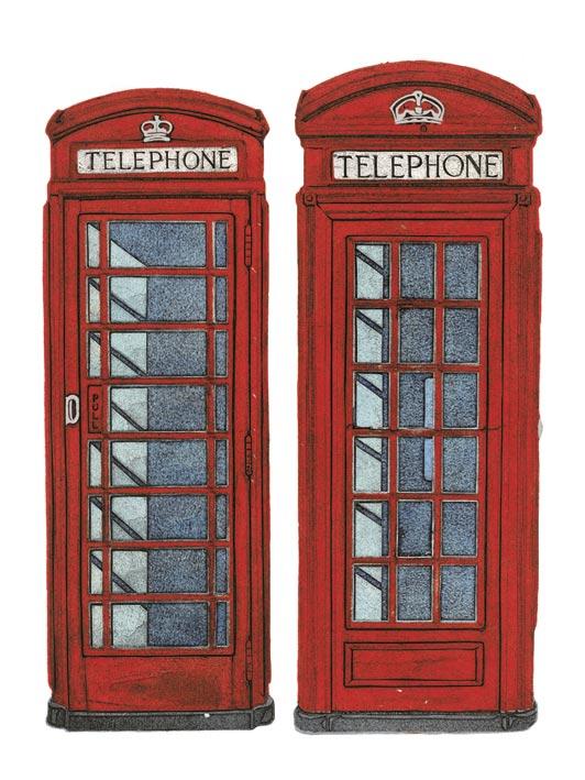 Barry Goodman (Telephone Boxes) Canvas Print