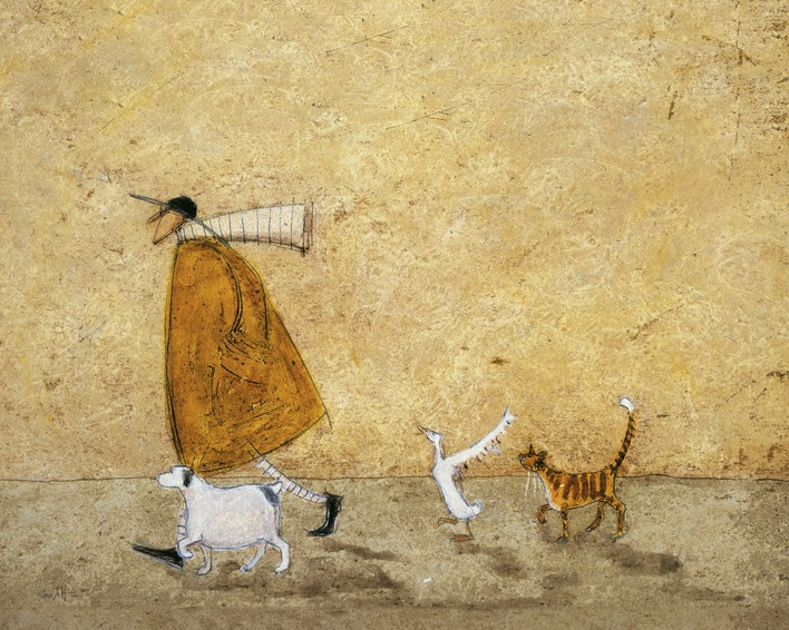 Sam Toft (Ernest, Doris, Horace And Stripes) Canvas Print