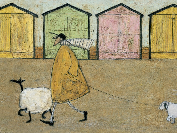 Sam Toft (Along The Prom) Canvas Print