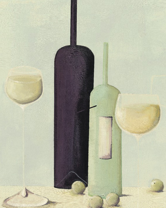 Nicola Evans (Wine And Grapes) Canvas