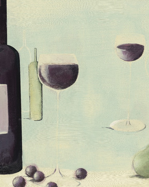 Nicola Evans (Red Wine With Pear) Canvas