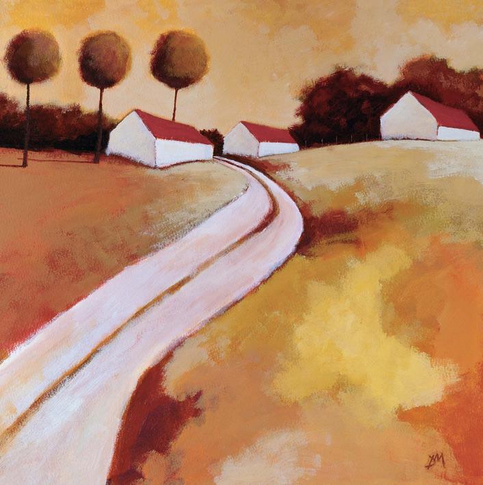 Derek Melville (Red Roofs) Canvas Prints