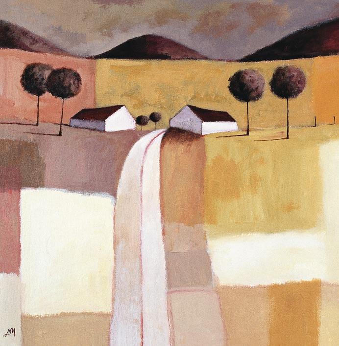 Derek Melville (Harvest Gold) Canvas Print