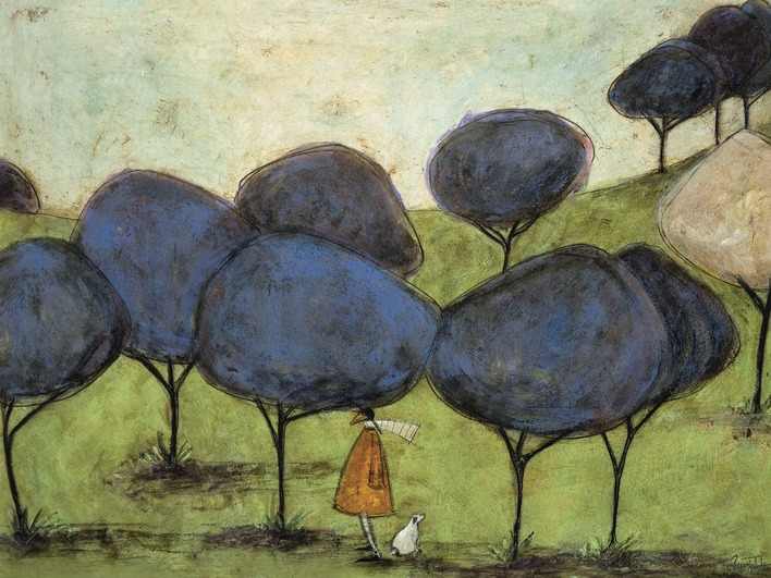 Sam Toft (Sniffing The Lilac) Canvas Prints