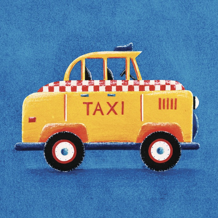 Simon Hart (Yellow Taxi) Canvas Prints