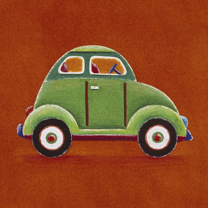 Simon Hart (Green Car) Canvas Prints