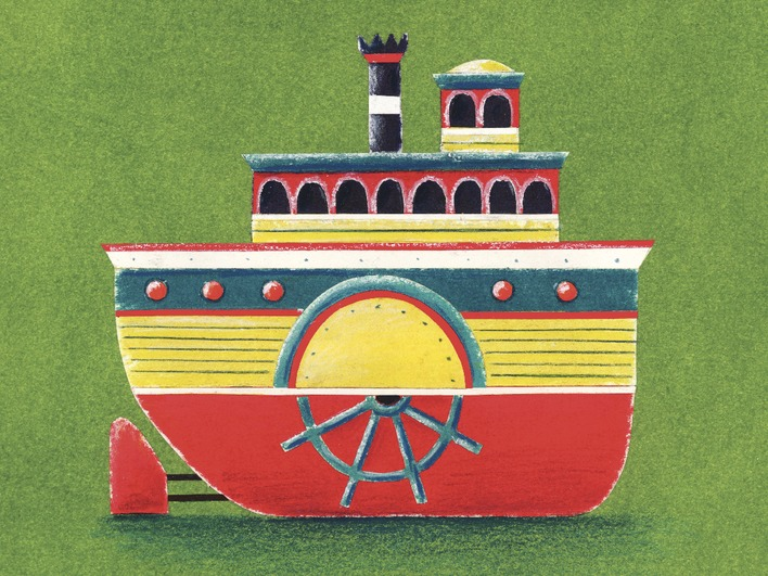 Simon Hart (Mississippi Steam Boat) Canvas Prints