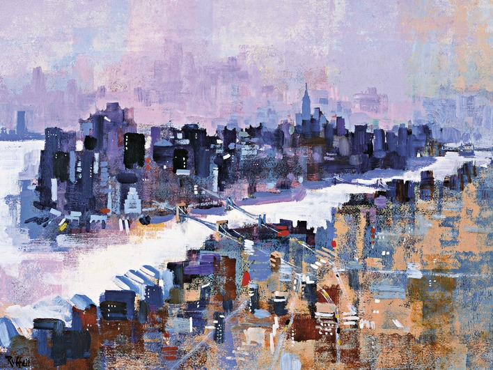 Colin Ruffell (New York & Manhattan Island) Canvas Prints