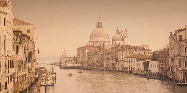 Rod Edwards (Canal Grande, Venice) Canvas Print