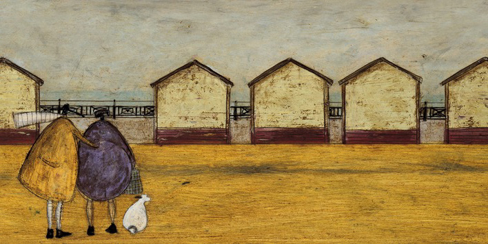 Sam Toft (Looking Through The Gap In The Beach Huts) Canvas Prints