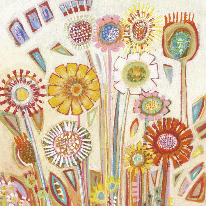 Shyama Ruffell (Sunny Flowers) Canvas Print