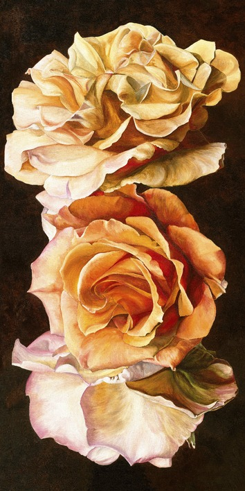 Sarah Caswell (Rose Trio) Canvas Prints
