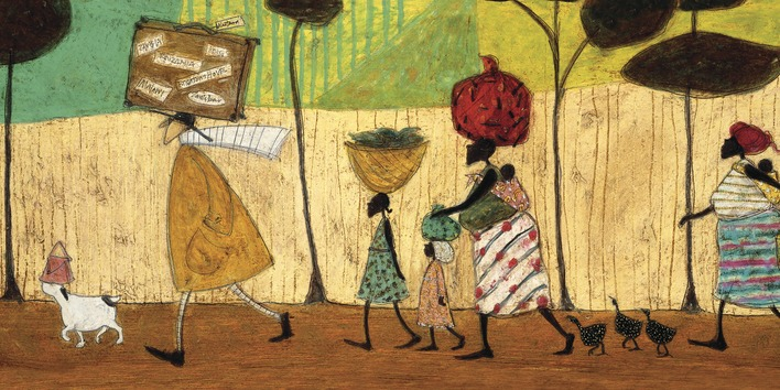 Sam Toft (Doris helps out on the trip to Mzuzu) Canvas Print