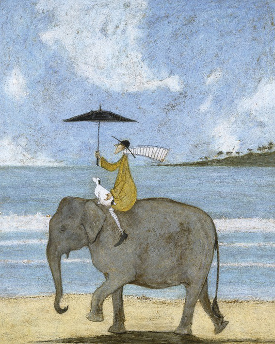 Sam Toft (On The Edge Of The Sand) Canvas Print