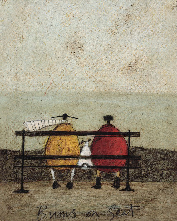 Sam Toft (Bums On Seat) Canvas Print
