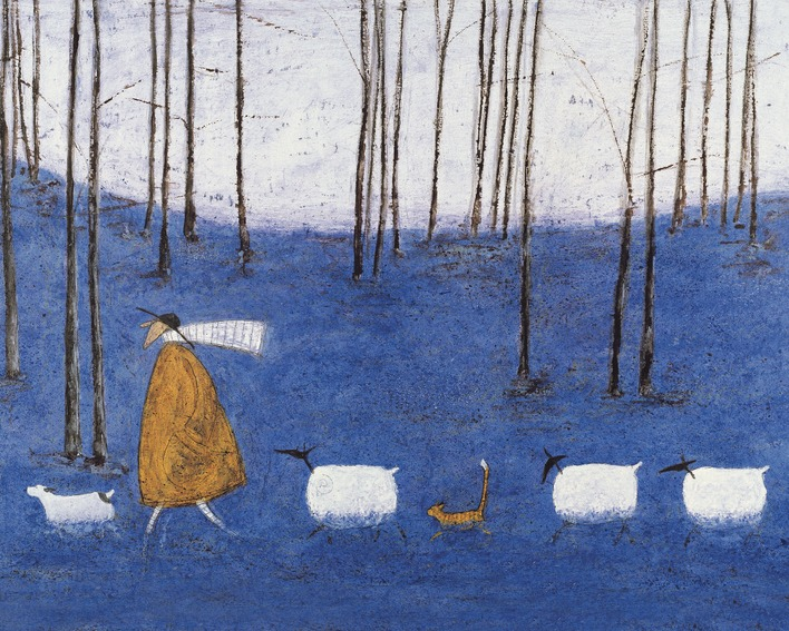 Sam Toft (Tiptoe Through The Bluebells) Canvas Print