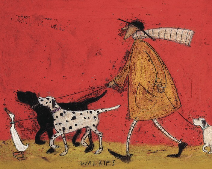 Sam Toft (Walkies) Canvas Prints