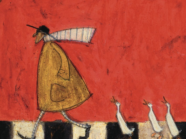 Sam Toft (Crossing With Ducks) Canvas Prints