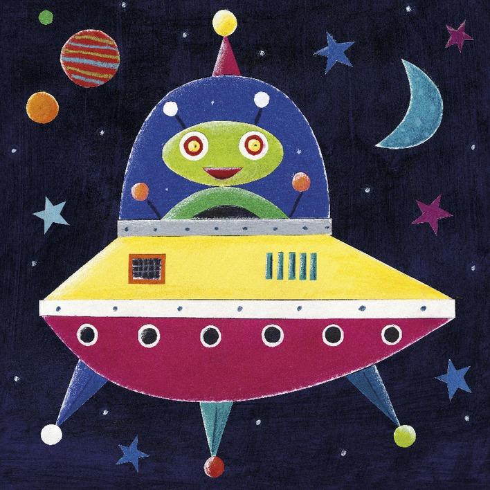 Simon Hart (Spaceship II) Canvas Prints