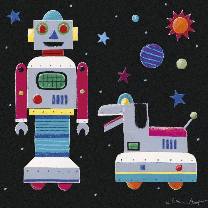 Simon Hart (A Robot & His Dog) Canvas Prints