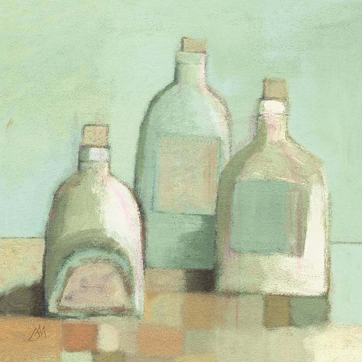 Derek Melville (Still Life with Bottles I) Canvas Prints
