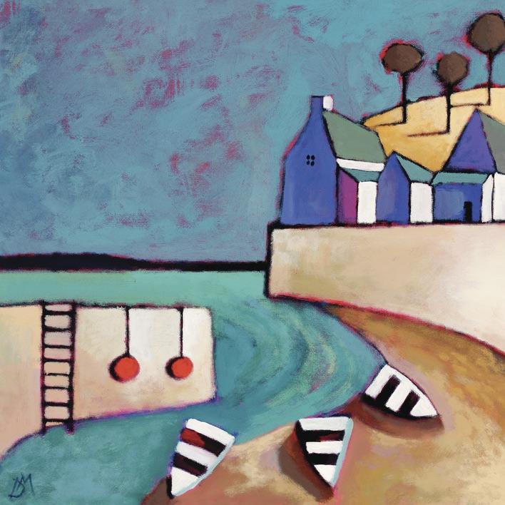 Derek Melville (Harbour View) Canvas Prints