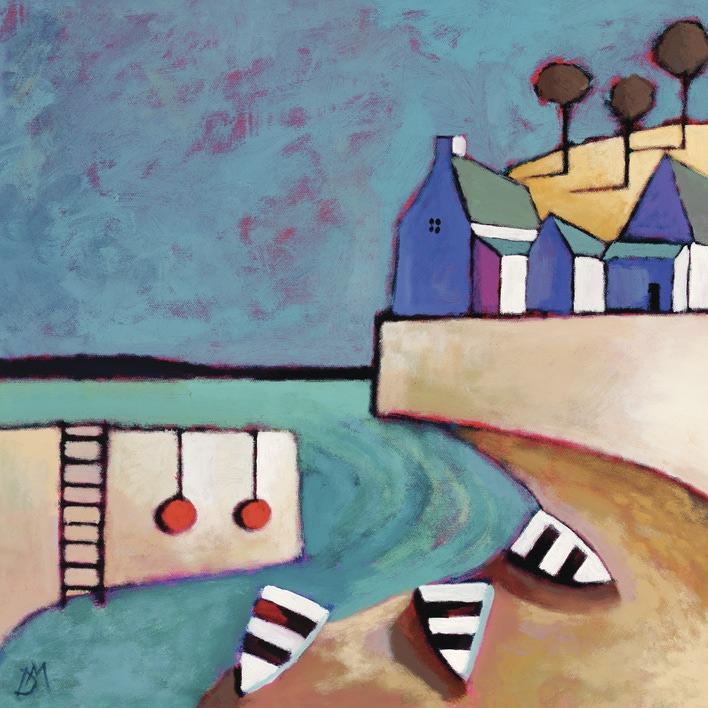 Derek Melville (Harbour View) Canvas Print