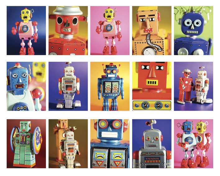 Howard Shooter and Lauren Floodgate (Robot Metropolis) Canvas Prints