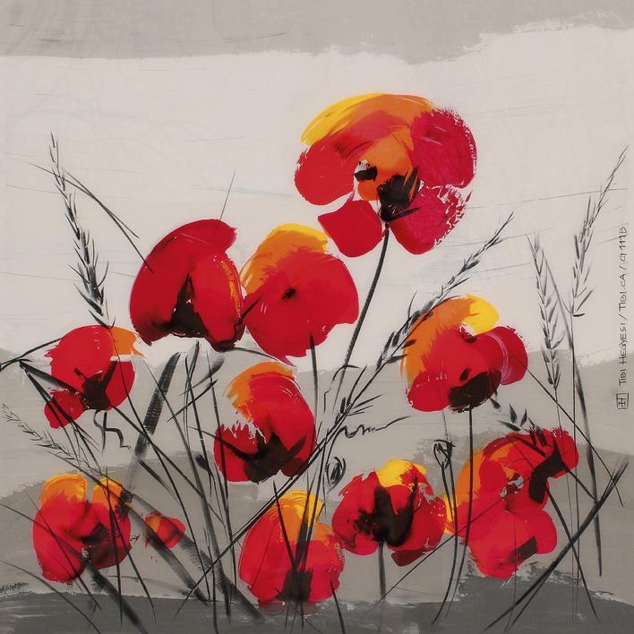 Tibi Hegyesi (Multiple Poppies) Canvas Prints