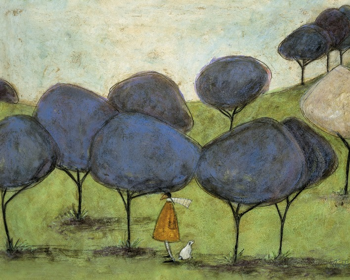 Sam Toft (Sniffing The Lilac) Canvas Print