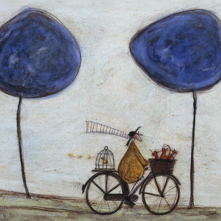 Sam Toft (Freewheelin' with Joyce Greenfields and the Felix 3) Canvas Prints