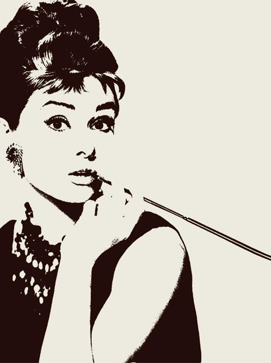Audrey Hepburn (Cigarello) Canvas Print