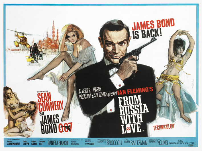 James Bond (From Russia With Love - Painting) Canvas Print