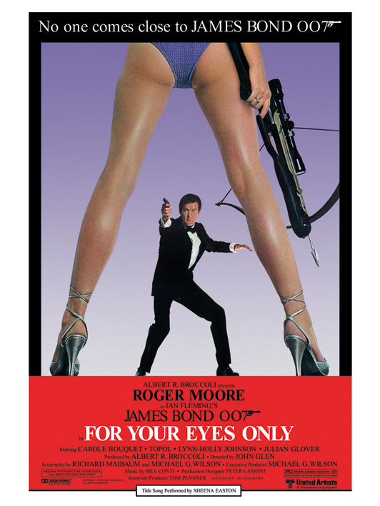 James Bond (For Your Eyes Only) Canvas Prints