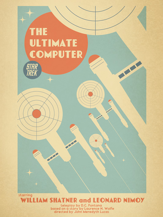 Star Trek (The Ultimate Computer) Canvas Print