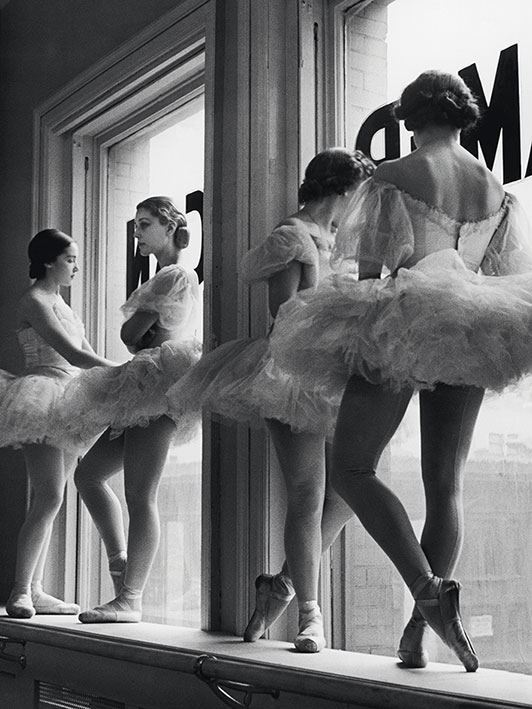 Time Life (Ballerinas In Window) Canvas Print
