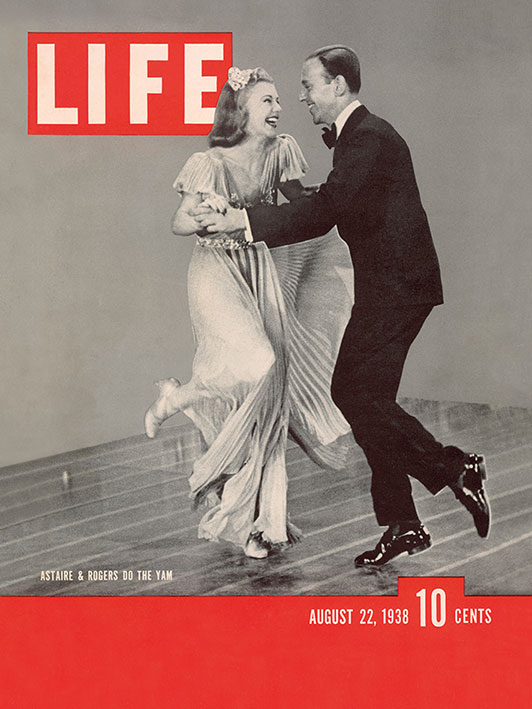 Time Life (Life Cover - Astaire and Rogers) Canvas Prints