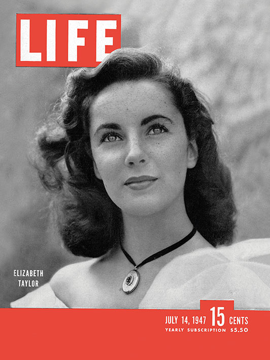 Time Life (Life Cover - Elizabeth Taylor) Canvas Print