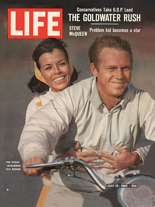 Time Life (Life Cover - Steve McQueen - Motorbike) Canvas Print