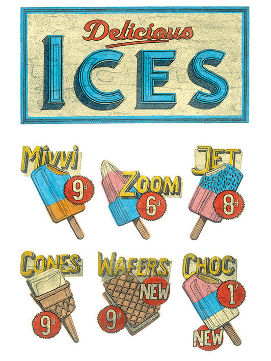 Barry Goodman (Delicious Ices) Canvas Print