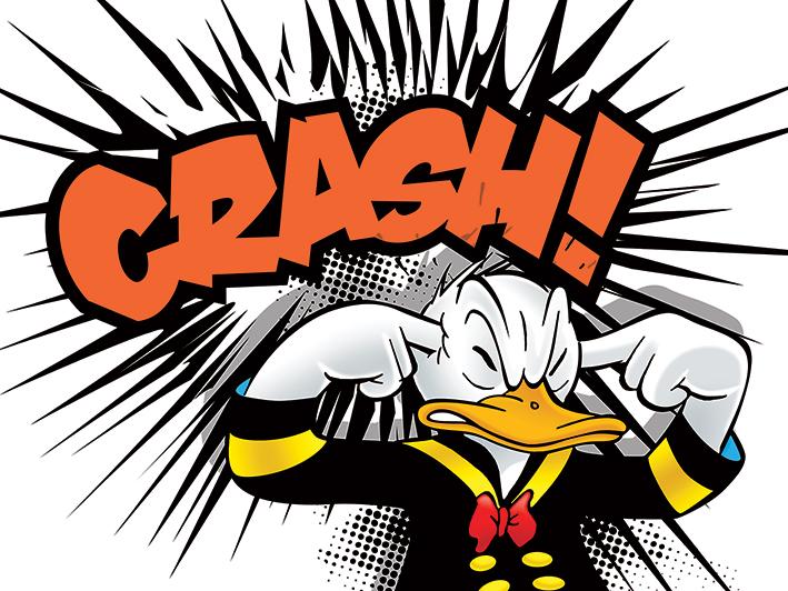Donald Duck (Crash) Canvas Prints